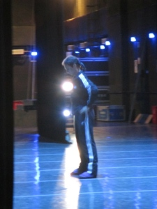 Manuel Legris warming up on stage